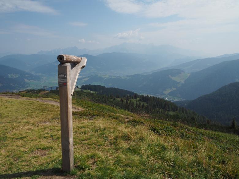het uitzicht naar de Radstäter Tauern