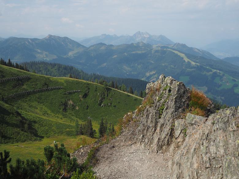 mooie rotspartijen tijdens de beklimming