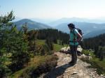 over de bergrug naar de Schneeberg