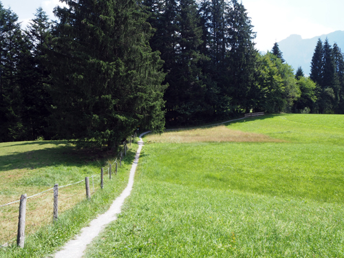 de wandelroute naar Abtenau