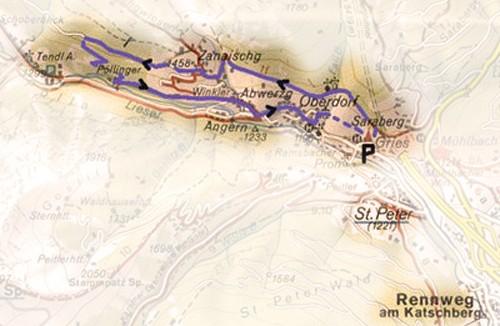 Wandelkaart Rennweg