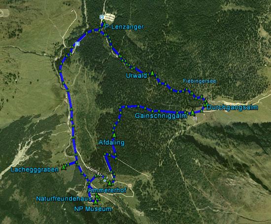 routekaart Kolm Saigurn