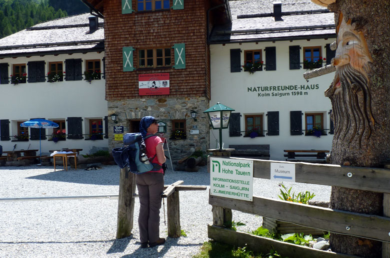 het Naturfreundehaus Kolm Saigurn