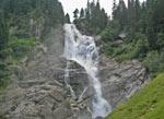 het laatste deel van de waterval