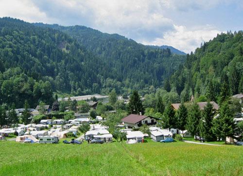 De mooie camping Schlossberg Itter