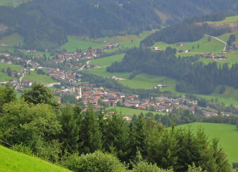 uitzicht op Hopfgarten