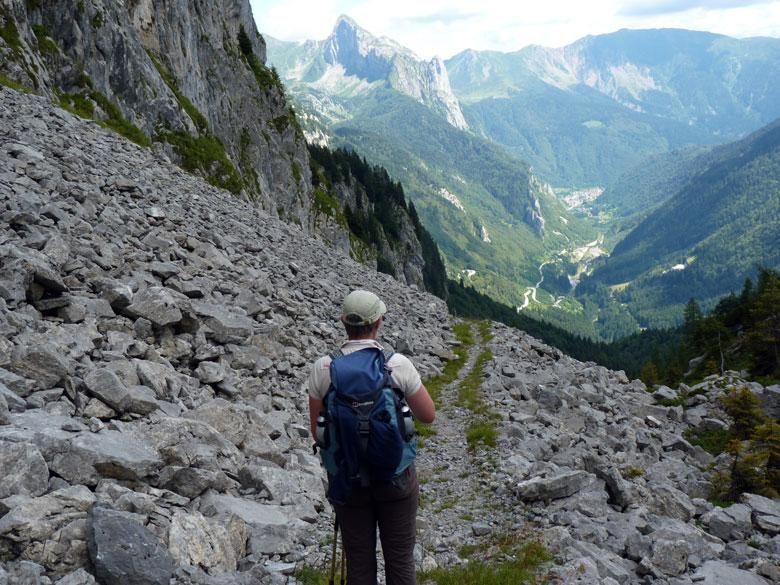 uitzicht in Italie bij de afkorting route