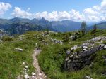 een heerlijk stukje lopen over de bergrug