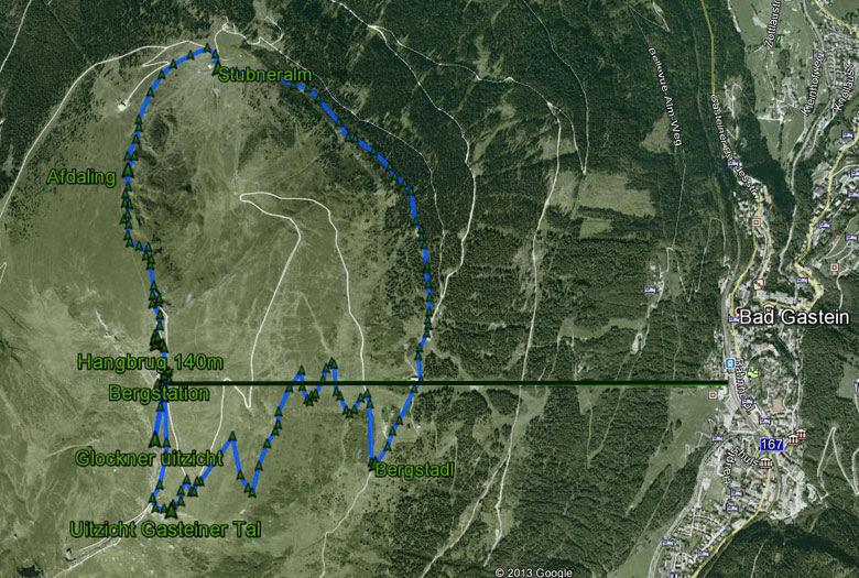 routekaart rondwandeling Stubnerkogel
