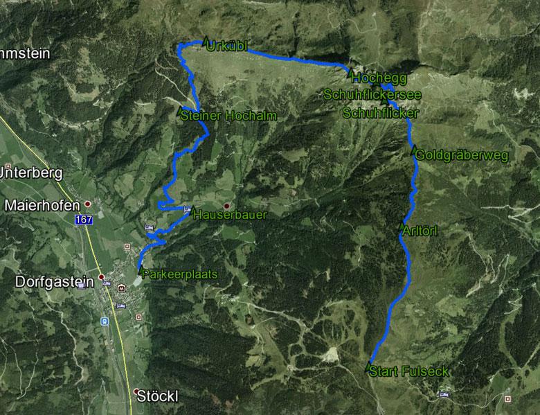 routekaart rondwandeling Fulseck Schuhflicker