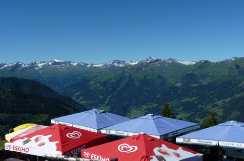 uitzicht boven het terras Gipflstadl