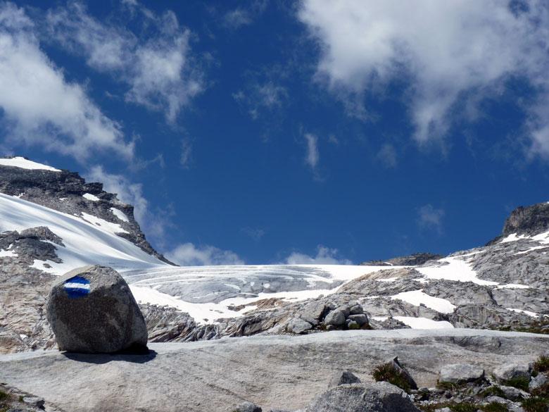 vanaf de splitsing een afsteker naar het gletsjer uitzichtpunt