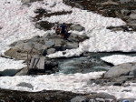 indrukwekkende gletsjerwereld tijdens de afdaling