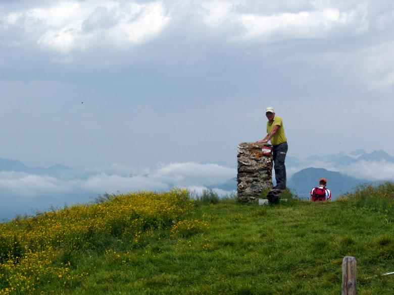 op de top van de Reissrachkopf