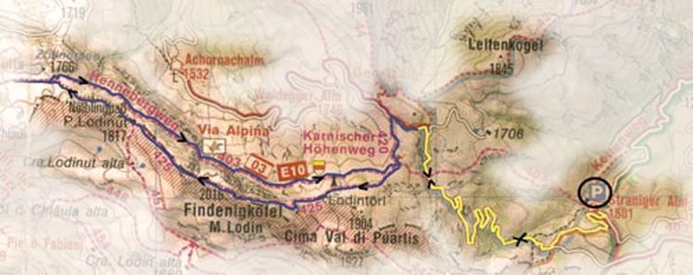 Wandelkaart Findenigköfel