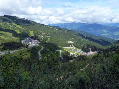 uitzicht op de Nassfeldpass