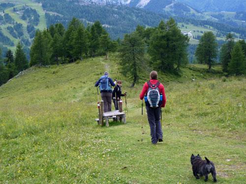 we volgen rechtsaf de Geo-trail