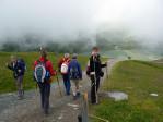 een bewolkte dag bij de Rifflsee