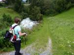 een mooie kloof en waterval bij Ritzenried