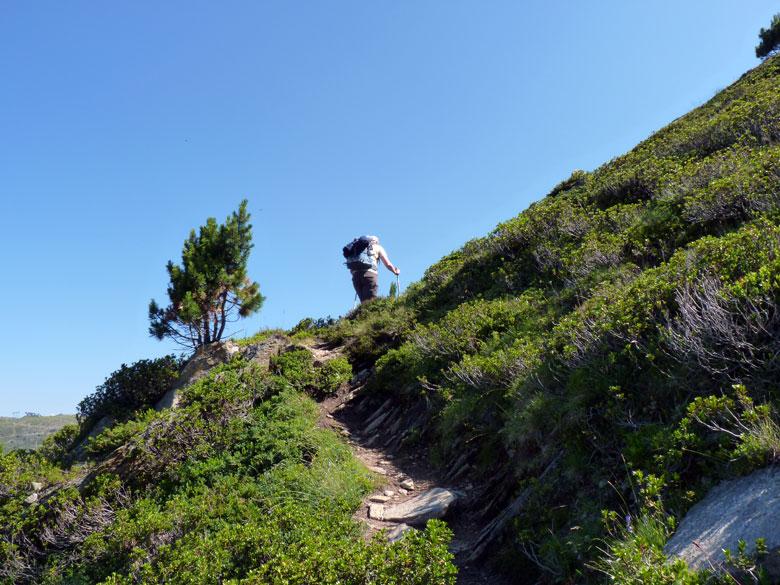 klauterpaadje omhoog naar de top
