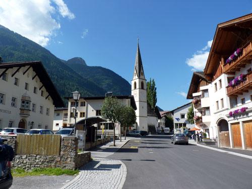 parkeren in Pfunds-Stuben bij hotel Tyrol