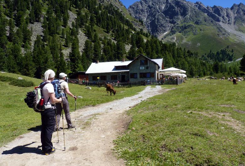 aankomst bij de Verpeilhütte