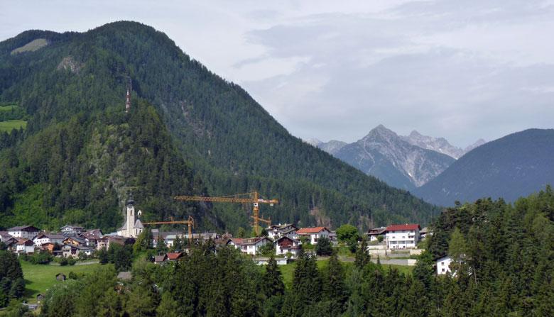 uitzicht op Arzl
