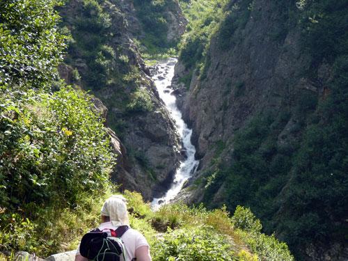 een waterval van de Kitzlesbach