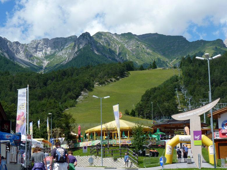 ingang van het Funpark Hoch-Imst