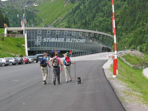 start bij de Stubaier Gletsjer liften