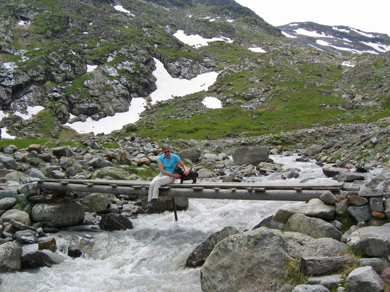 we vinden een rustig plekje bij een eenvoudige brug over de Sulzenaubach