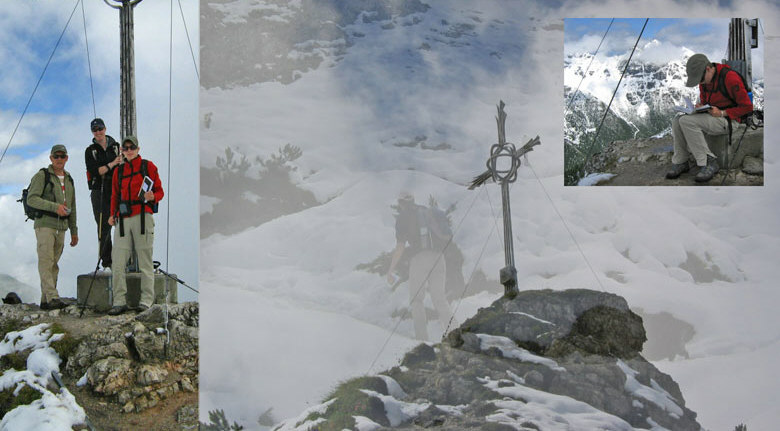 bij het topkruis van de Kreuzjoch