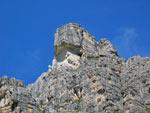 een rotspunt van de Elferspitze