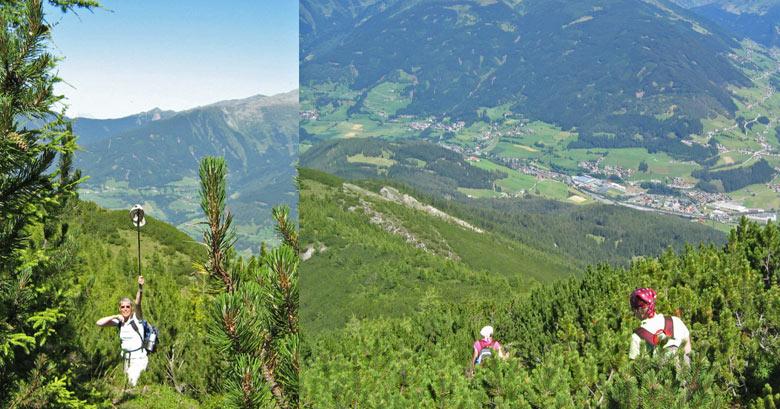 spoorzoekertje tussen de Alpendennen