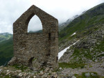 de ruïne van het Goldbergwerg Radhaus