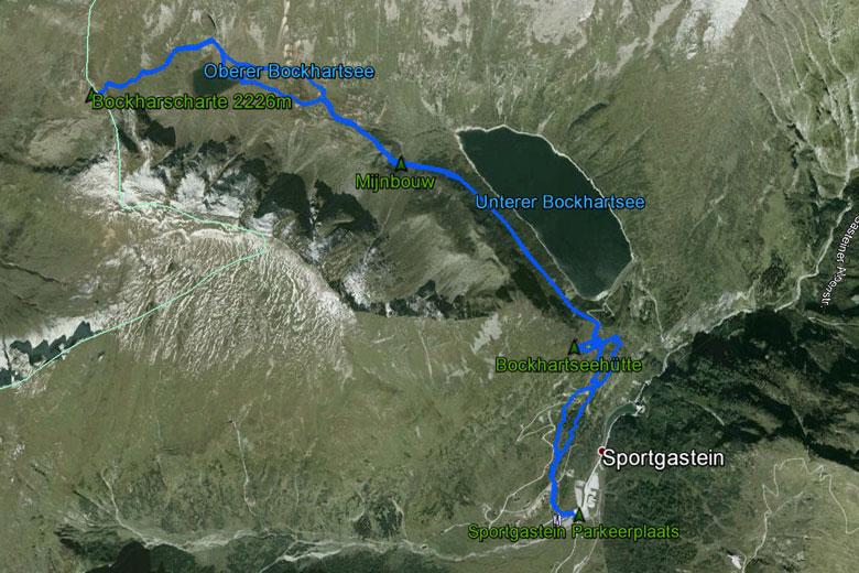 routekaart Bockhartscharte