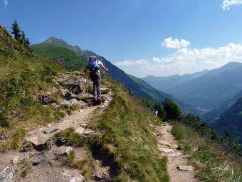 zigzag langs de berghelling