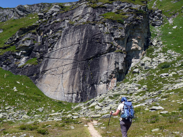 ...tot aan een steile rotswand