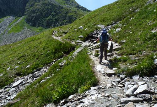 de tweede klim van vandaag naar de Sattel