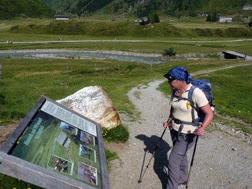 langs verschillende Naturschauweg informatieborden