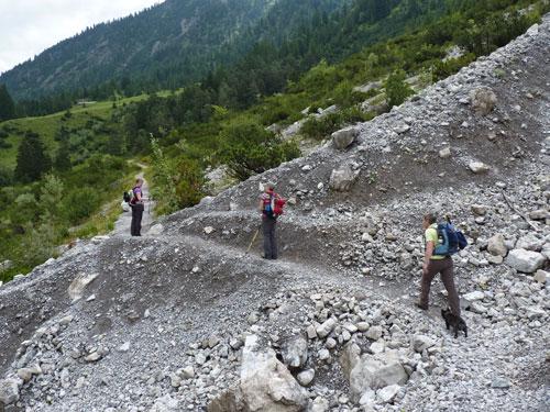 smal pad op weg naar de Untere Novaalpe