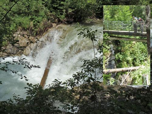 watervallen en bruggen rond de Novaalpe