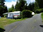 terrassen boven aan de camping