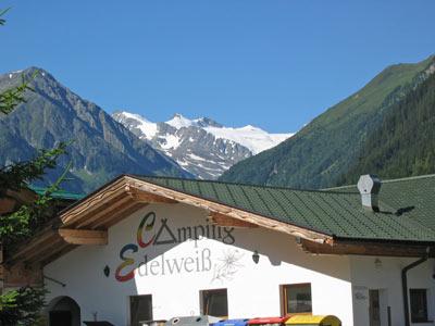 Camping Edelweiss bij Volderau in het Stubaital