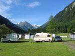 staplaatsen op het zuidelijke deel van de camping