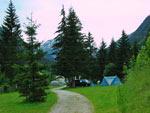 staplaatsen op het noordelijke deel van de camping