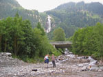 Mischbach waterval op 10min lopen vanaf de camping