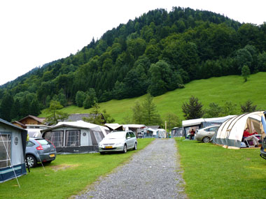camping Grosswalsertal bij Raggal Vorarlberg
