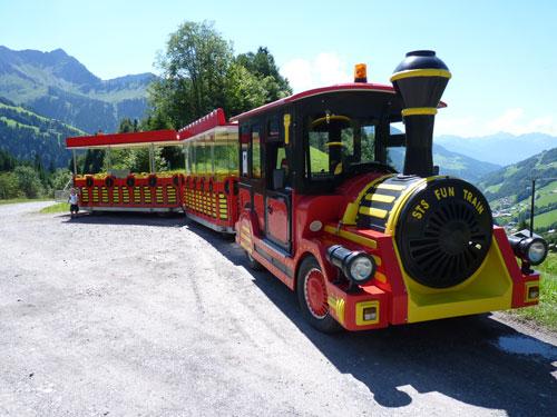 het treintje rijdt op en neer naar de Seewaldsee