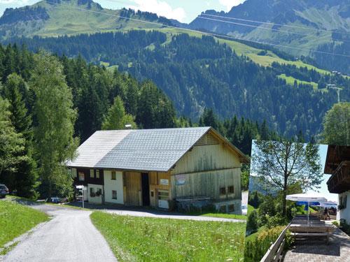 over het heuveltje komt het Gasthof Seewald al snel in zicht
